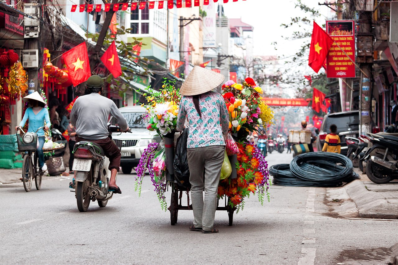 Christmas in Hanoi, the most evocative and enchanting city in Vietnam, illuminated by colorful lanterns.