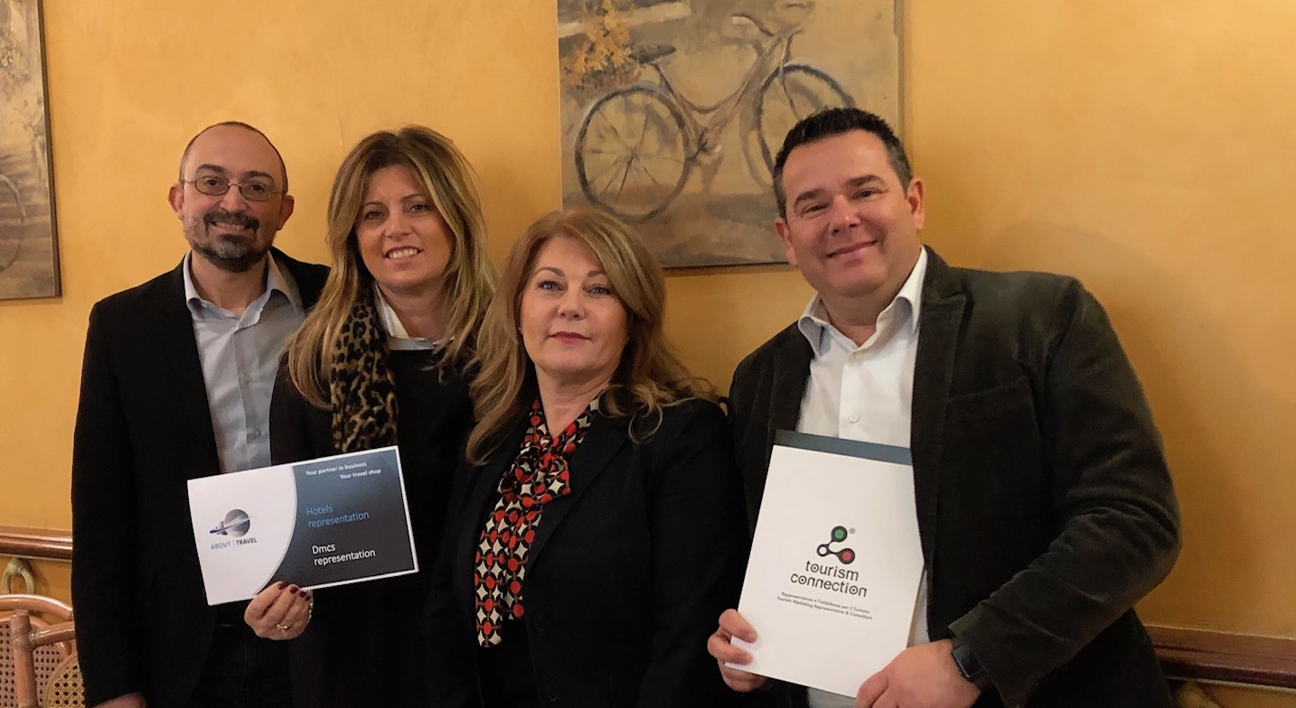 SIGLATA PARTNERSHIP TRA TOURISM CONNECTION E ABOUT TRAVEL