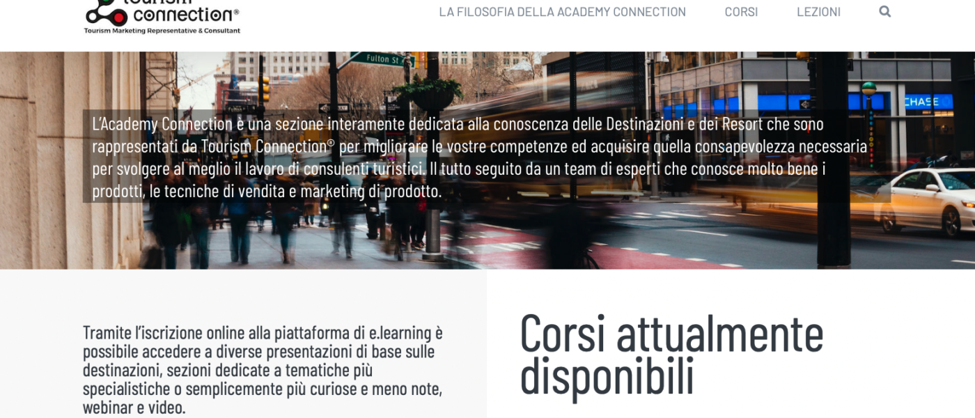 ACADEMY CONNECTION , e.training platform about our destinations, is online